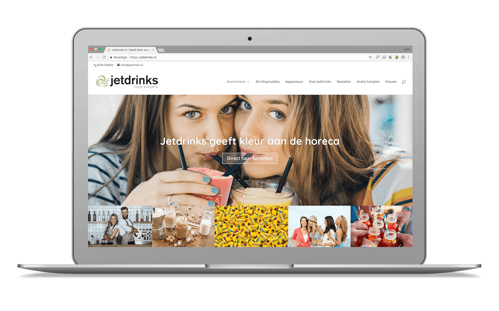 Screenshot van JetDrinks
