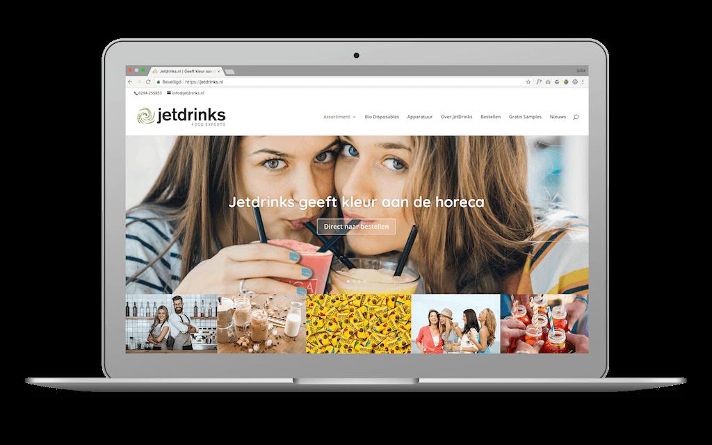 Screenshot van JetDrinks